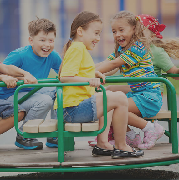children on playground