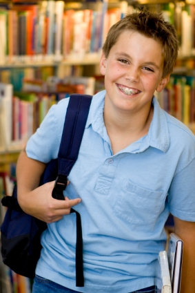 Boy with Braces - Pediatric Dentist and Orthodontics in Richboro, PA